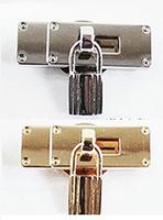 バッグ用 飾りマグネット金具 錠前タイプ 定価1240円(本体価格)