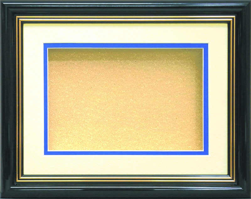 GS-308A <カードサイズ>3D専用額  黒(マット・ブルー) GS308A 定価6650円(本体価格)
