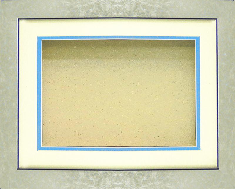 GS-444 <カードサイズ>3D専用額  シルバー(マット・ブルー) GS444 定価5300円(本体価格)