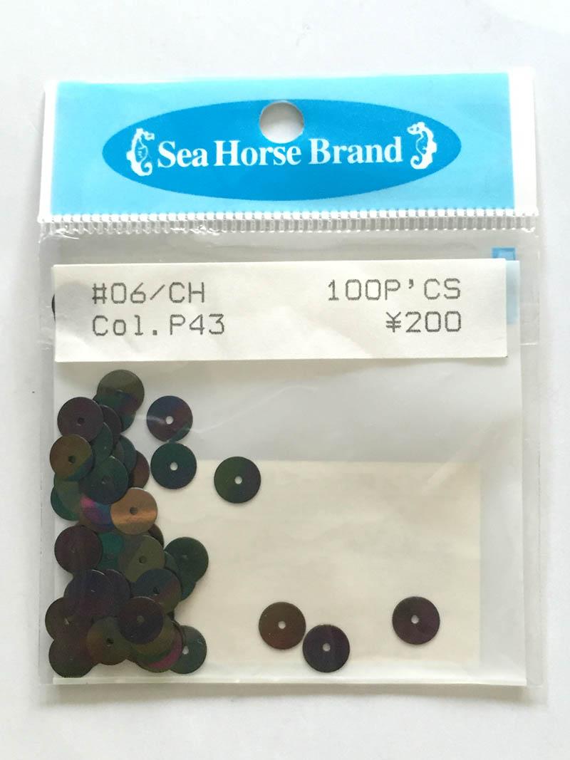 スパンコール Seahouse Brand  o6/CH  Col.p43  200円