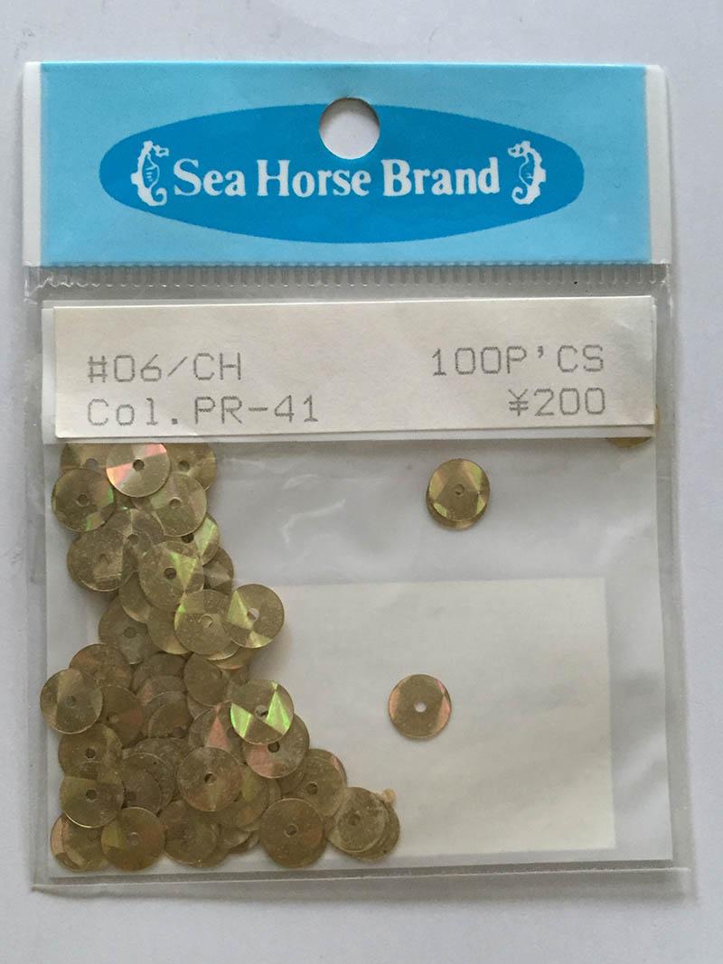 スパンコール Seahouse Brand  06/CH Col.PR-41 200円